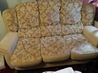 3 seater and 2 chairs