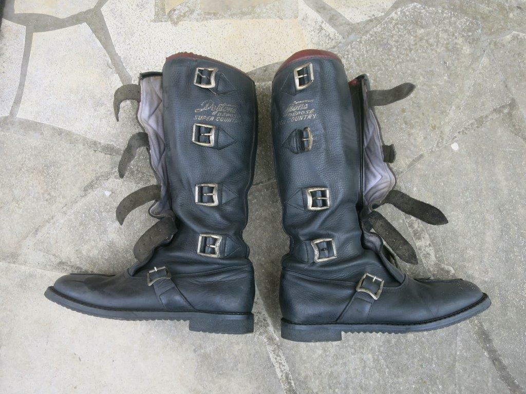 Bottes moto en cuir daytona super country - vintage leather boots - t42