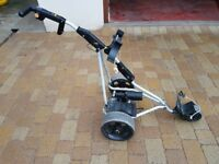 Powakaddy Golf cart/trolley with 2 lead batteries