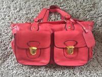 Ladies Coral High Fashion Handbag (Used)