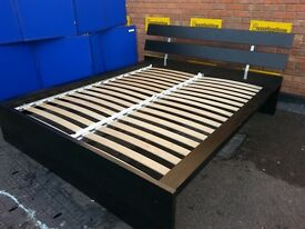 Ikea Malm King Bed and Drawers, optional mattress