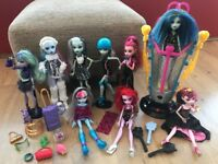 Monster High dolls and extras