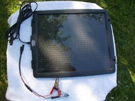 Solar powered battery top up