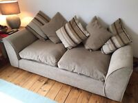 Beige matching Sofa and cuddle chair for sale