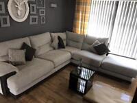 Fabric corner sofa - 6 months old.