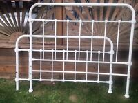 IVORY CREAM SHABBY CHIC FRENCH STYLE ORANTE DOUBLE METAL BED FRAME VTG VICTORIAN
