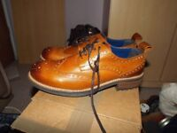 Mens Cow Leather Tan shoe £25 Last pair left BRAND NEW BOXED