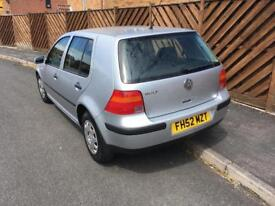 VW golf 1.4 with service history.