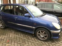 Daihatsu Sirion , mot , 67000 miles ,pas,electric windows,central locking .