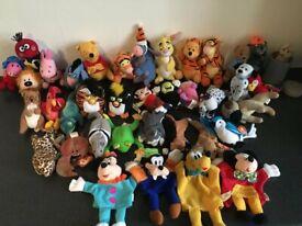 McDonalds Happy Meal Soft Toys x38 Disney, Furby, Beanie, Magic Roundabout, Pooh