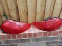 Peugeot 206cc rear tail lights