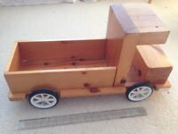 Large wooden toy lorry very well made