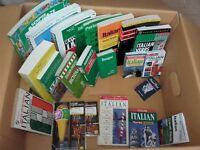 Italian language books 20 + cassettes