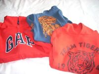 Boys Lot 3 Hooded Tops age 6-7 yrs
