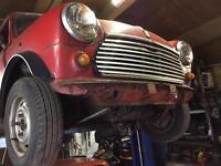 1986 Austin mini Chelsea for restoration