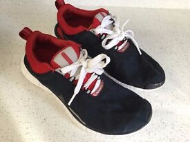 Nike black and red trainers size UK8, Euro 42.5, in excellent condition.