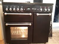 Rangemaster 90 dual fuel oven and matching extractor fan