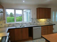Selection of kitchen base & wall units in cherry