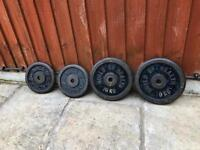 2x10kg 2x5kg Cast Iron Weights plates. +More Weights available