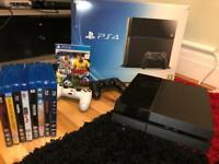 PS4 (500gb) with pes 2016. 2 controllers. And 8 blue ray DVD's