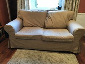 Ikea 2 seat Ektorp sofa and matching footstool