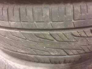 4 pneus d'été 175/70/14 Hankook Optimo H418 50% d'usure, mesure 5, 6/32.