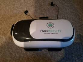 Fuse Realit VR Headset with built-in earbuds
