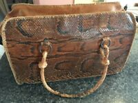 BIG BAG REAL PITON AMAZING VINTAGE OF MY GRANMOTHER ONLY £50!!! cm45xcm28xcm20