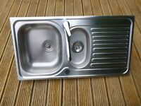 Stainless Steel Sink and Taps - Blanco-Used