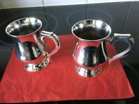 Pair of Silver Plated Tankards