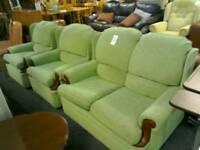 Green 3 piece suite #31209 £159