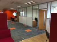 Modern Flexible Office Space in Medway with high speed internet, parking and meeting rooms.