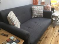 Small grey sofa