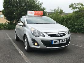 2012 Vauxhall Corsa 1.2 i 16v SXi 3dr FSH. 1 PREVIOUS OWNER
