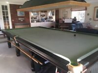 Full Sized Snooker Table - 12x6 foot 8 legged Riley in good condition