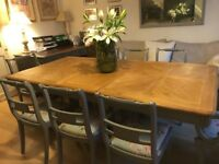 French Farmhouse Dining Table 8 Chairs