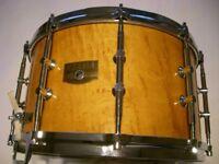 """Tama AW548 Artwood Pat 30 BEM snare drum 14 x 8"""" - japan - '80s - Ex-Phil Gould-Level 42"""