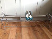 Useful extendable metal shoe rack