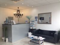 Two spacious beauty rooms to rent to wellbeing and beauty professionals.