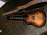 Hofner New Committee archtop hollow body electric guitar