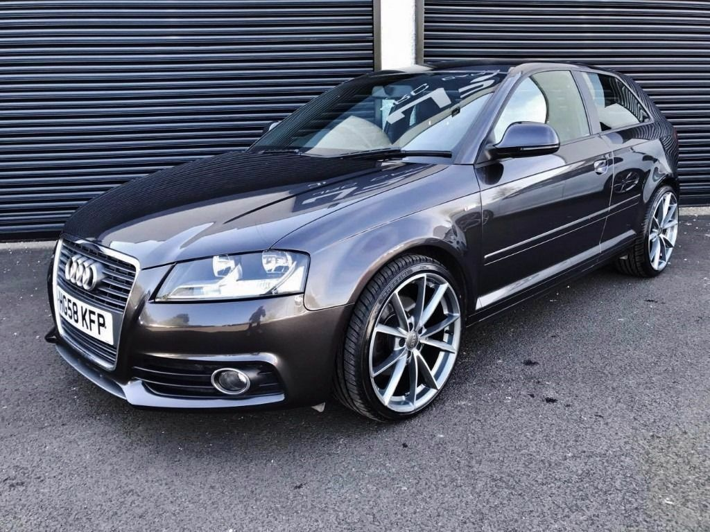 2008 audi a3 s line 2 0 tdi 170 3 door fsh lava grey in. Black Bedroom Furniture Sets. Home Design Ideas