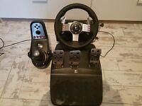 Logitech G27 Steering Wheel, Pedals, shifter, with nixim brake mod.