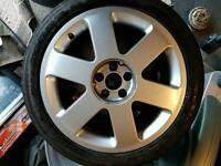 "Audi tt / golf mk4 alloys 17"" 5x100"