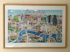 Beautifully large illustrated Map of London poster - Debbie Ryder