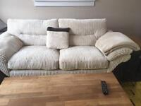 DFS cream fabric (sink in to) comfy sofa, 3 seater plus 1 seater