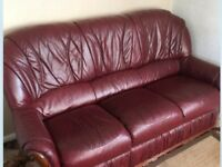 Leather sofa like new, could deliver