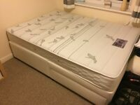 Double Divan base with 2 drawers and Pocket Sprung / Memory Foam combo Mattress