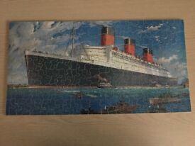Wooden Jigsaw - Cunard White Star RMS Queen Mary
