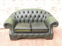 Stylish regency Chesterfield Sofa Green (Delivery)
