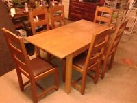 Oak Extenable Dining Table and 6 Marks & Spencer Lifestore Chairs